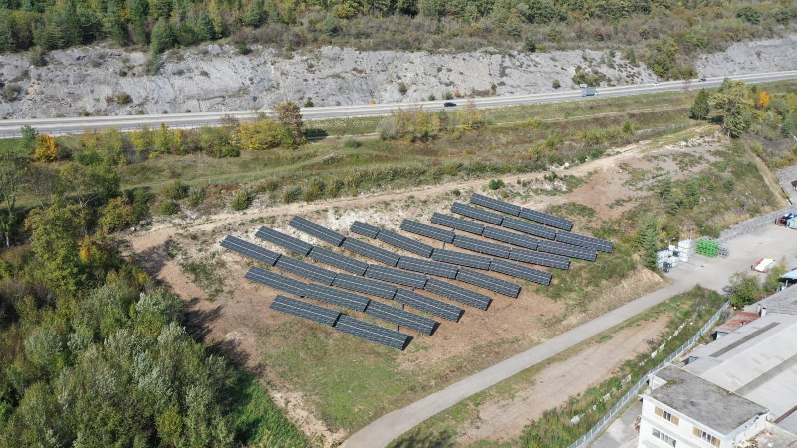 Inauguration d'une Centrale au Sol sur le site de Gergonne Industrie en Autoconsommation